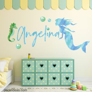 custom name mermaid decal