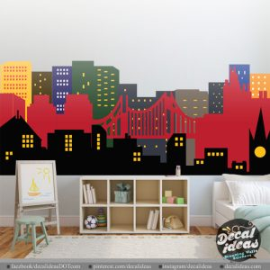 City Skyline Nursery Decal