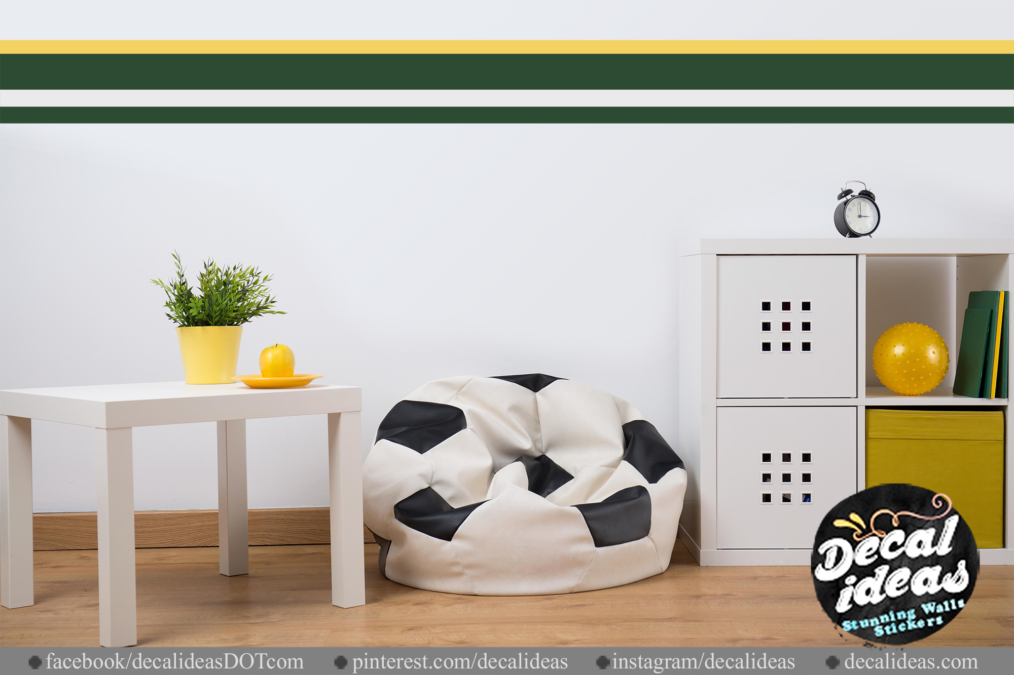 Wall Stripe Decals Personalized Wall Panel Sticker 02 Deaclideas Wall Decals
