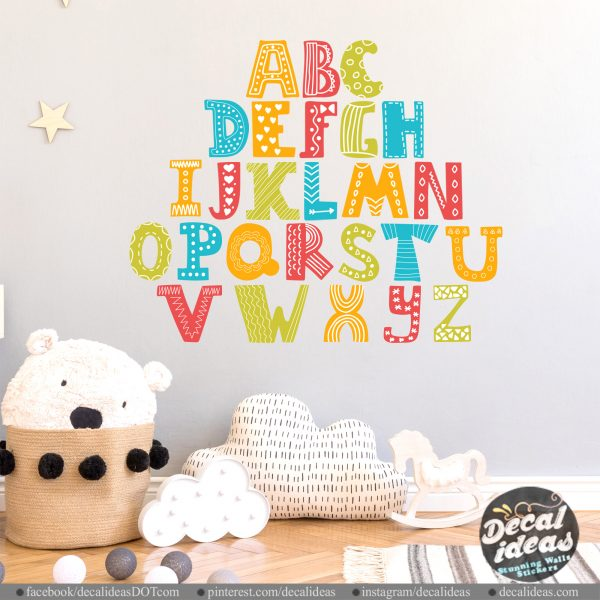 English Alphabets Decal Stickers